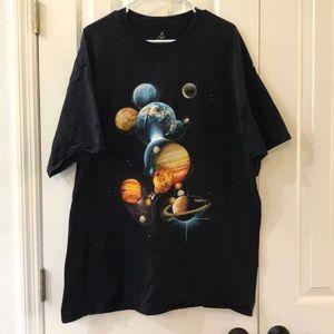 Mickey Mouse Galaxy T-Shirt, Size 2XL